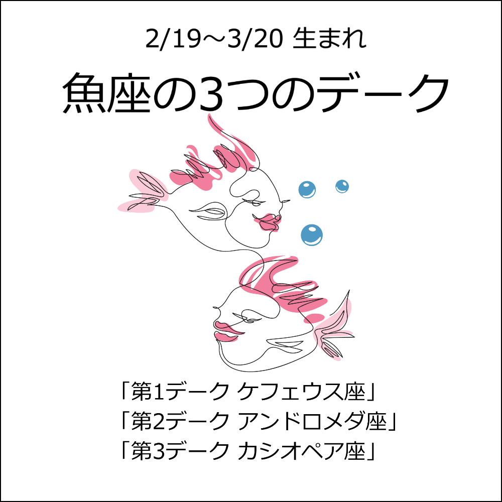 【36星座占い⑫魚座の3デーク】ケフェウス座、アンドロメダ座、カシオペア座