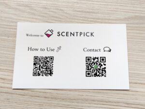 香水サブスク「SCENTPICK」のカスタマーサポートハガキ